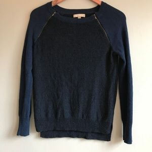 [BR] color blocked navy sweater